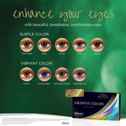 Air Optix Colors – fără dioptrie (2 lentile)