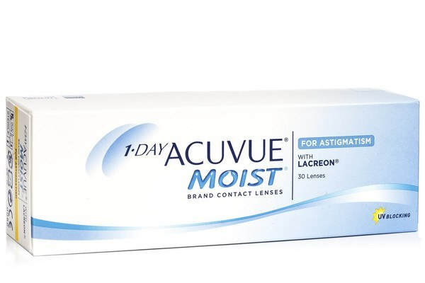 Johnson & Johnson Acuvue 1-DAY Moist for Astigmatism 30 buc. – Lentile de contact torice