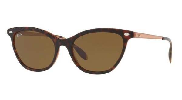 Ochelari de soare Ray-Ban RB4360 123373 Top Havana On Light Brown